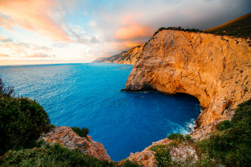 Porto Katsiki coast on Lefkada island