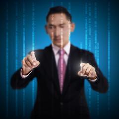 Man Touch Binary Code