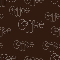 Background with coffee lettering