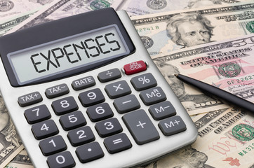 Calculator with money - Expenses