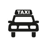 Fototapety The taxi icon. Taxicab symbol. Flat