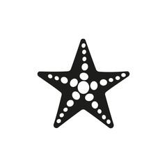 The starfish icon. Ocean symbol. Flat