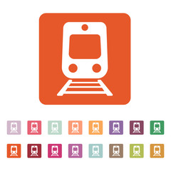 The train icon. Railway symbol. Flat