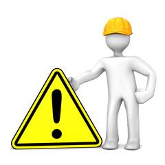 Bauarbeiter Warnschild