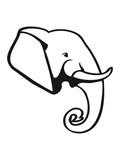 Elephant animal Africa pachyderm poster