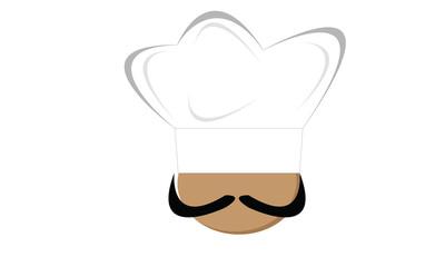 chef con cappello e baffi