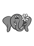 Elephant sweet funny comic pachyderm poster
