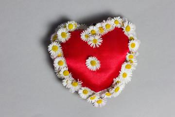 Herz mit Margeriten