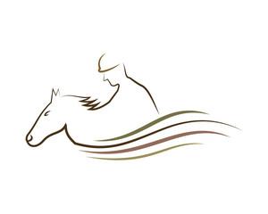 Equestrian Logo Vector Template