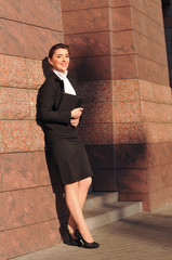 Businesswoman full lenth portrait