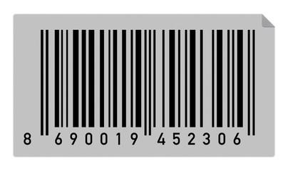 Türkiye kodlu bir barkod etiket örneği