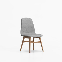 Isolated contemporary grey chair