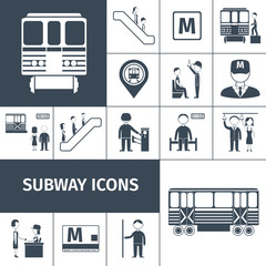 Subway Icons Black