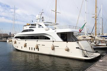 Yacht in pier
