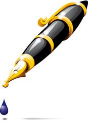 fountain pen blotch