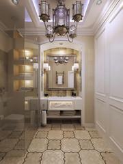 Bright bathroom moroccan