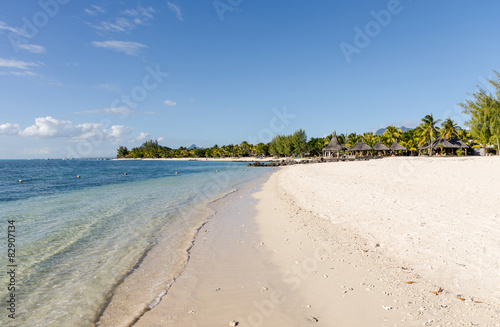 Fotobehang Overige Beach of Le Morne in Mauritius