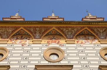 Decorative cornice at the Pruhonice castle