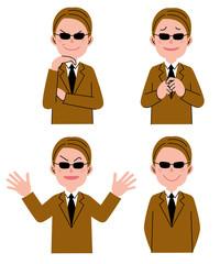 男性 表情 サングラス