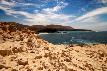 View of Ajuy coast in Fuerteventura, Canary Islands, Spain