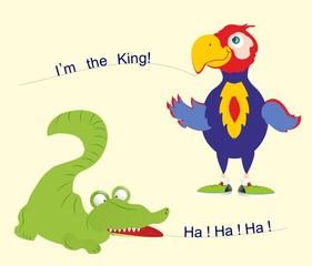 papuga i krokodyl,
