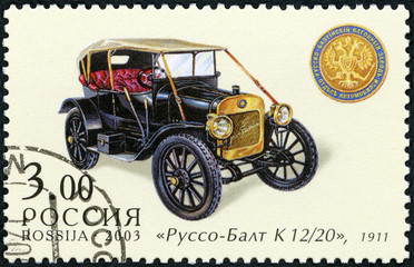RUSSIA - 2003: shows Russo-Balt K 12/20, made in 1911