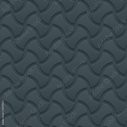 3D Dark Gray Seamless Perforated Wallpaper. - 82911322