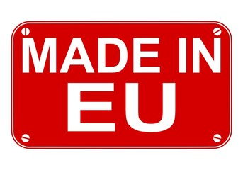 Made in EU sign