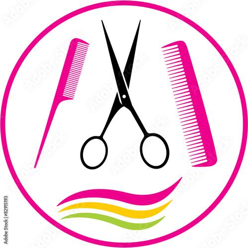 U0026quot;ciseaux et coiffureu0026quot; fichier vectoriel libre de droits sur la banque du0026#39;images Fotolia.com ...