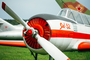 The Yakovlev Yak-52 was designed originally as an aerobatic trai
