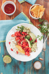 Pico de Gallo, fresh Mexican salsa. Natural light