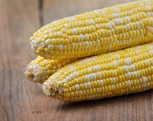 corn on old wooden background