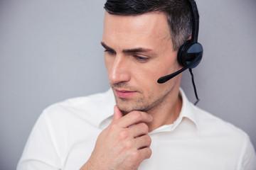 Portrait of a pensive male operator