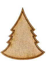 Figurine from wooden chipboard, decorative element for scrapbook