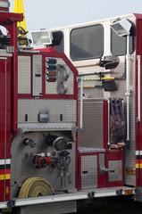 detail of fire truck