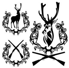 deer hunting design set