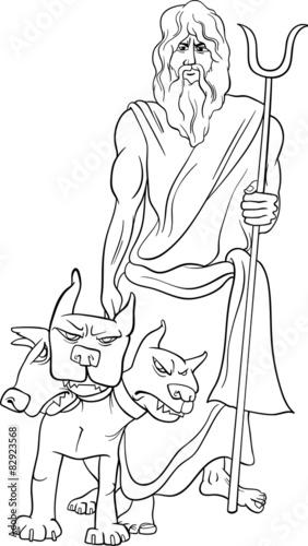 greek god hades coloring page