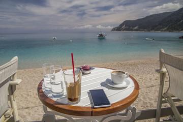 empty coffee sea holidays