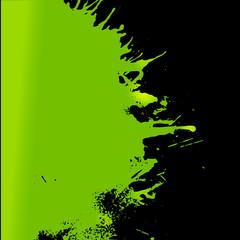 Vector green paint left oriented splash