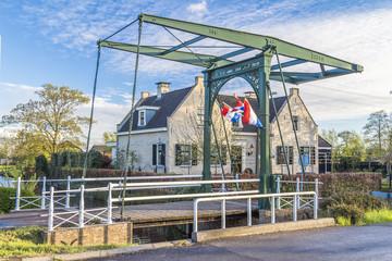 Classic  draw bridge in Holland, Netherlands