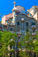 Casa Batllo was built by Antoni Gaudi in 1904. Barcelona