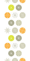 Vector abstract gray and green polka dot backgr vertical border