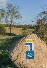 Pilgrim sign - Camino de Santiago - Touristic signs - Poland