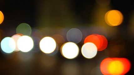 City traffic at night with Bokeh
