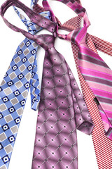 four necktie knotted