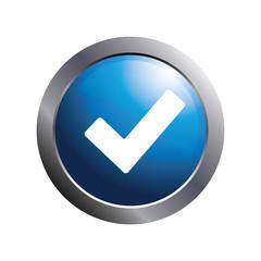 Blue button -  Check mark icon