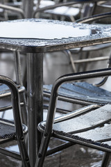 rain puddle on the table