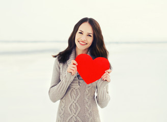 Love, valentine's day and people concept - portrait of happy pre
