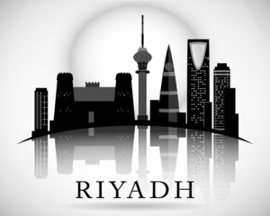Modern Riyadh City Skyline Design. Saudi Arabia