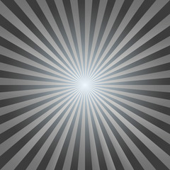 Vintage abstract background explosion black-white rays vector